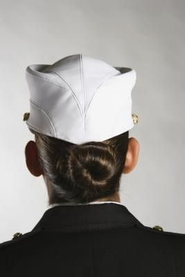 How to Do a Tight Military Bun. This could work really well for njrotc.