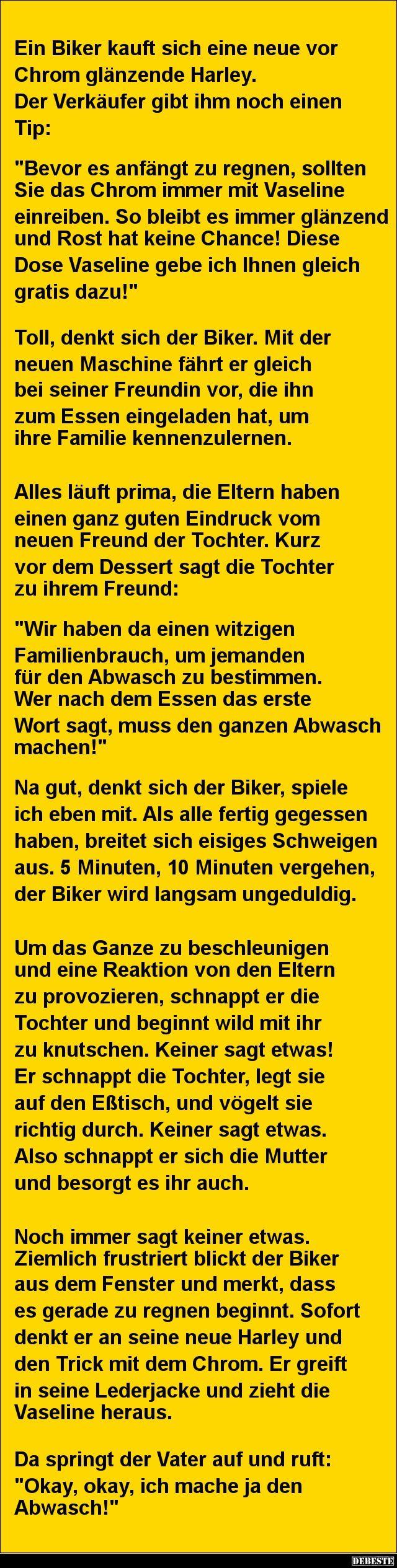 http://debeste.de/2231/Ein-Biker-kauft-sich-eine-neue-vor-Chrom-gl-nzende-Harley