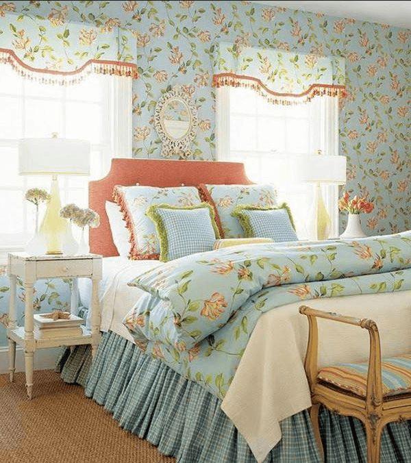 schlafzimmer deko pastell  vintageshabby chic