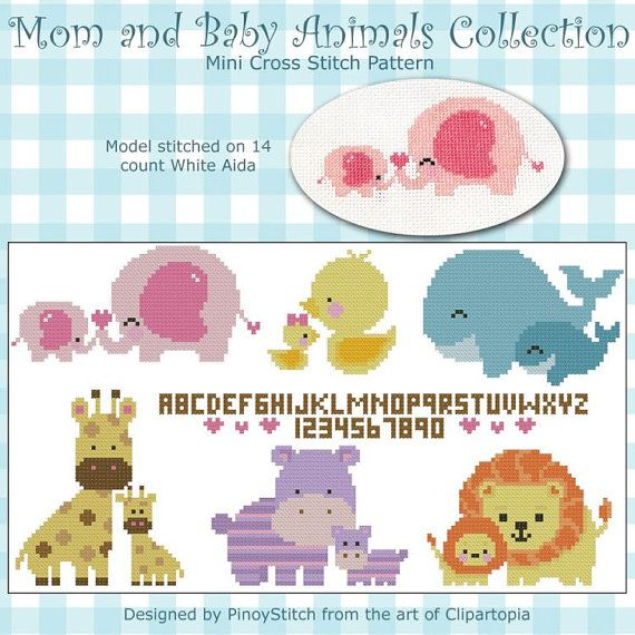 Mom and Baby Animals Collection Cross Stitch PDF by PinoyStitch