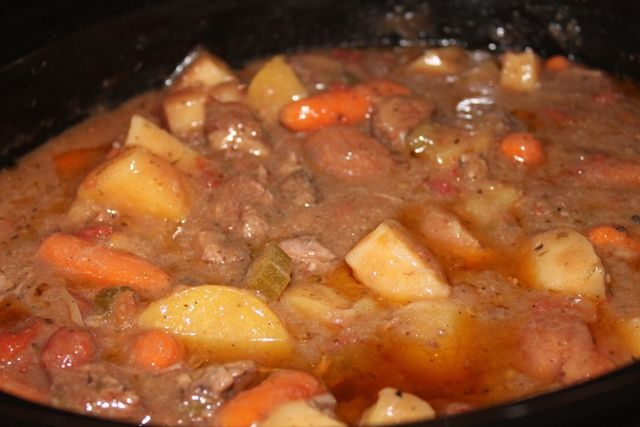 Great recipe.  I used a gluten free flour blend to brown the stew meat.  Perfect for a cold winter day.