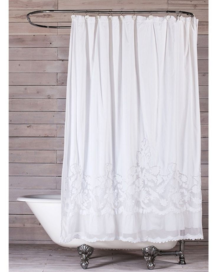 40 best images about White shower curtain cotton on