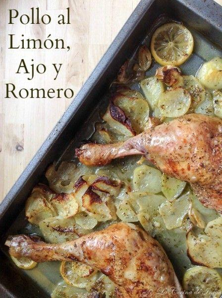 Pollo al Limón, Ajo y Romero (Lorraine Pascale récipe) / Recipe Lorraine Pascale Garlic, Rosemary and lemon roast chicken