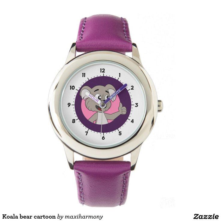 Koala bear cartoon wristwatch