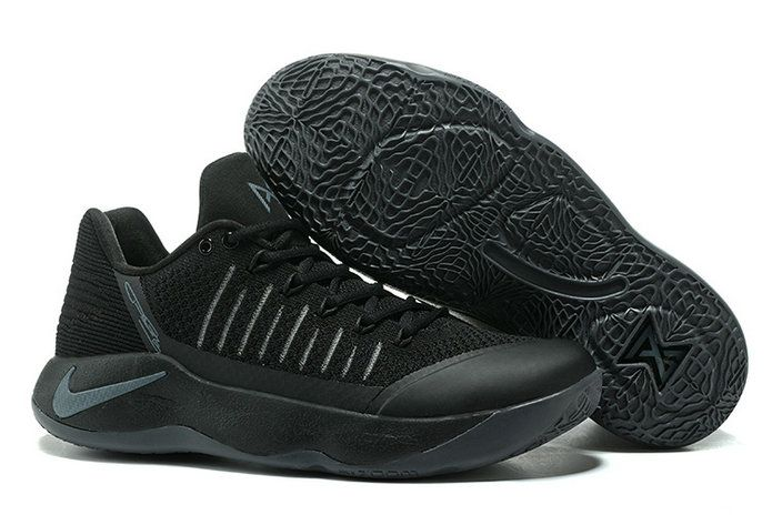 2017-2018 Newest And Cheapest New Paul George Shoes PG 2 II Flyknit Triple Black All Black