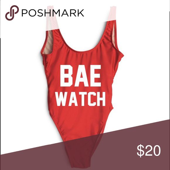 BAE WATCH one piece swimsuit/costume Brand new still in packaging which is why I️ took the picture from website I️ purchased from!! Super cute accidentally purchased two and it's too late to return the extra. Swim One Pieces