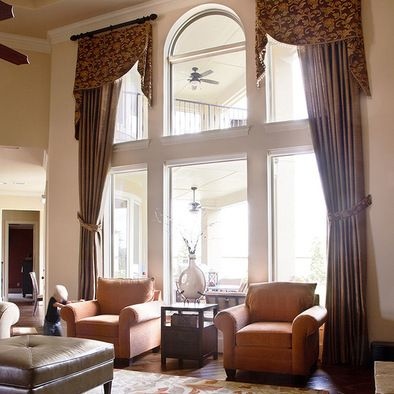 1000 images about curtains for two story windows on pinterest for Blinds for tall windows