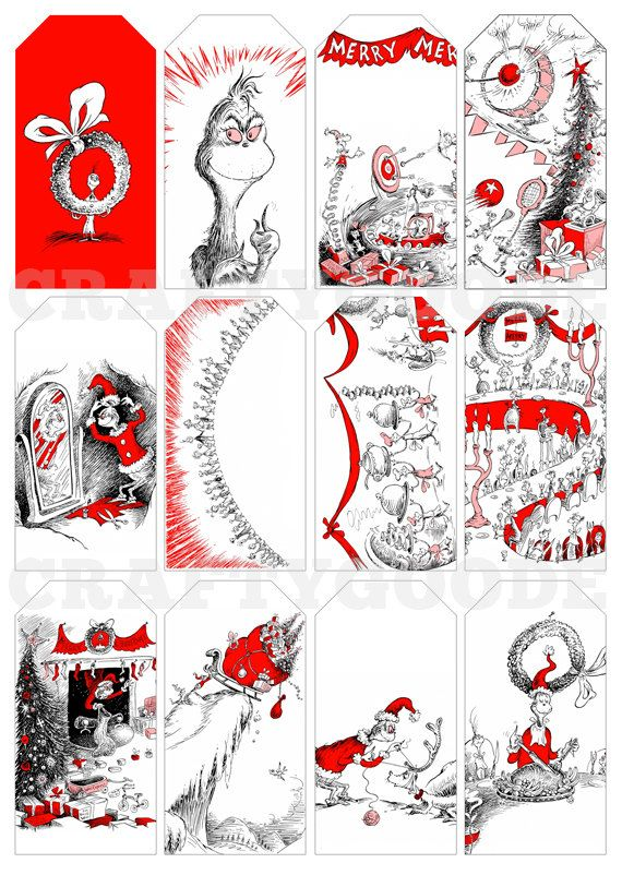 How the Grinch Stole Christmas Gift Tags  Printable by CraftyGoode