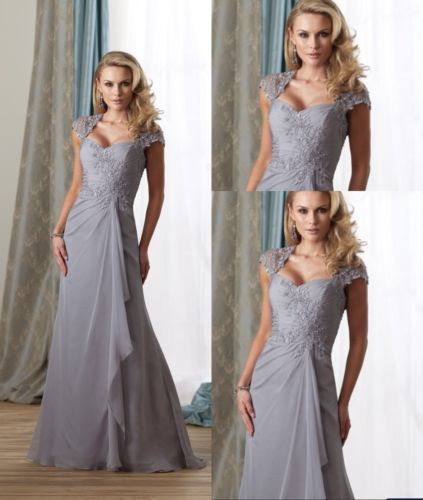 Elegance Long Chiffon Mother Of The Bride Dresses Formal Party Bridal Dresses