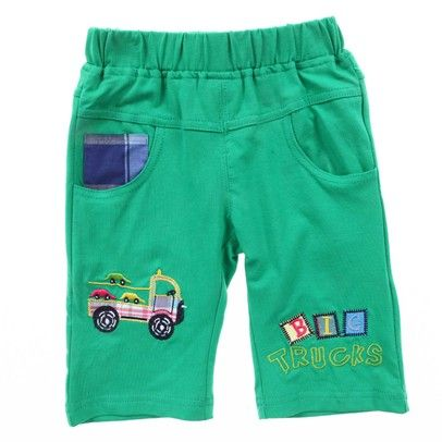 Boys Green Shorts With Truck On Leg-AJ15602-green $16.00 on Ozsale.com.au