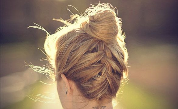 Upside Down French Braid Bun...i really want to learn how to do this!!!! it's so cute!