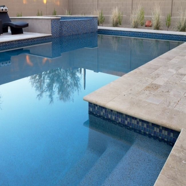 Noce Travertine Bullnose Is A Beautiful Natural Stone With Its Elegant Medium To Medium Deep Brown Color Wor Pool Coping Travertine Pool Coping Travertine Pool