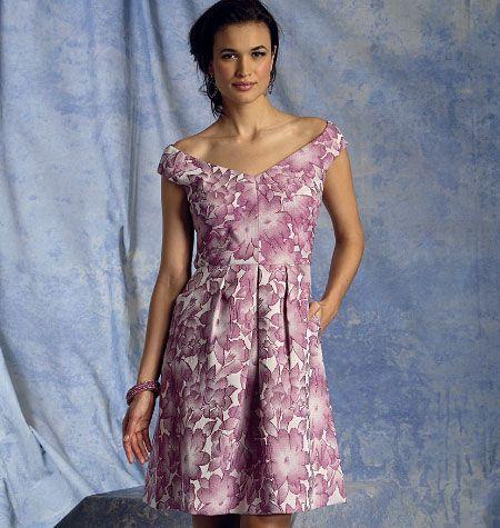 Patron de robe - Vogue 1392
