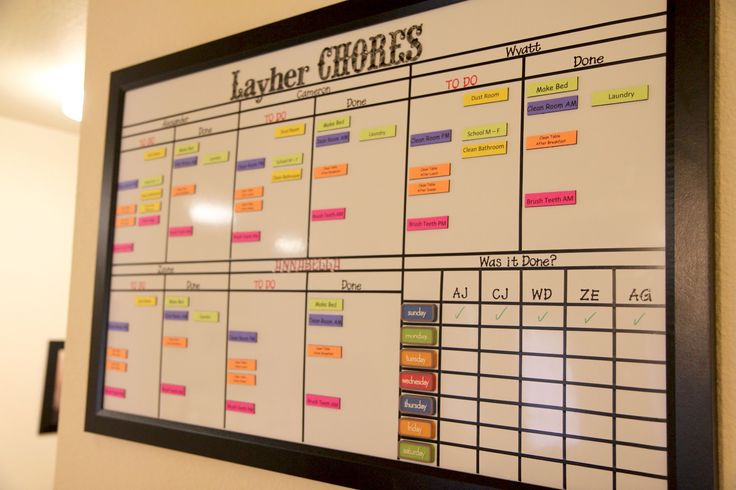Organized Chaos: Multi-Child Magnetic and Dry Erase Chore Chart!