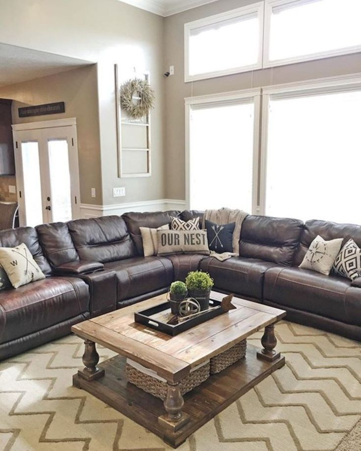 Leather Sectional Sofas Rustic Leather Sectional Sofas Rustic Ledersofas Rustikal Canapes Modulaires En Cuir Rustique Sof In 2020 Living Room Leather