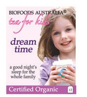 When the kids sleep well, everyone in the family gets a good night's sleep. The herbs in Kids Dreamtime tea are calming and soothing for kids.