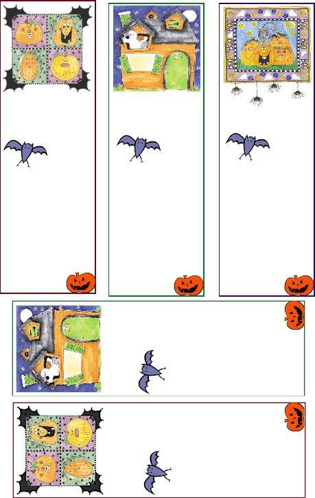 printable halloween bookmarks templates coloring pages - Halloween Bookmarks To Color