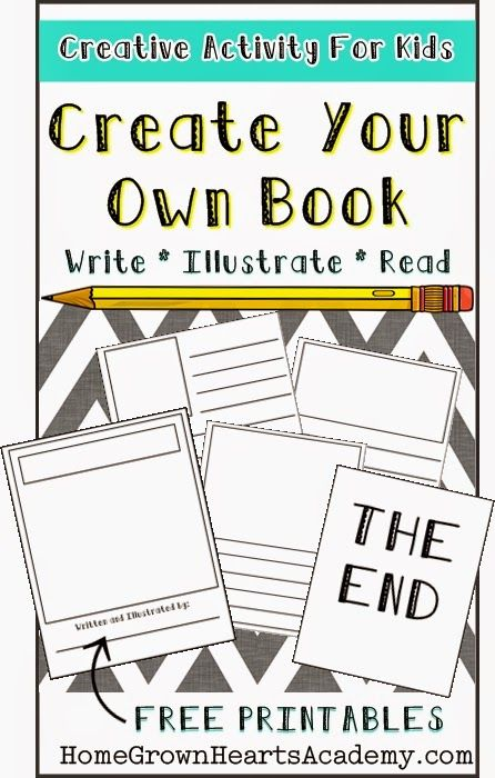 Creative Activity For Kids - Create Your Own Books #homeschool #education #creative