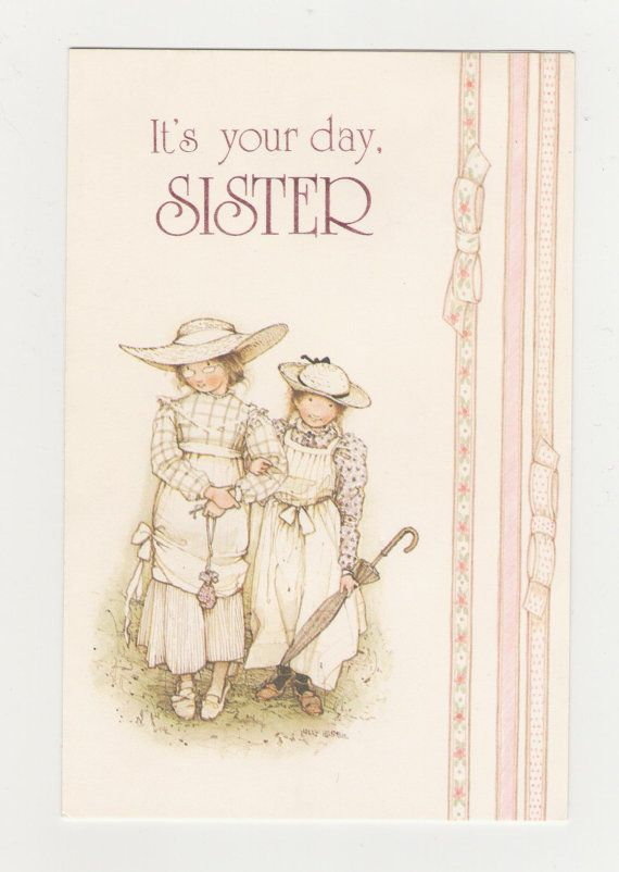 Vintage Holly Hobbie Happy Birthday Sister  Card by fromjanet, $4.00