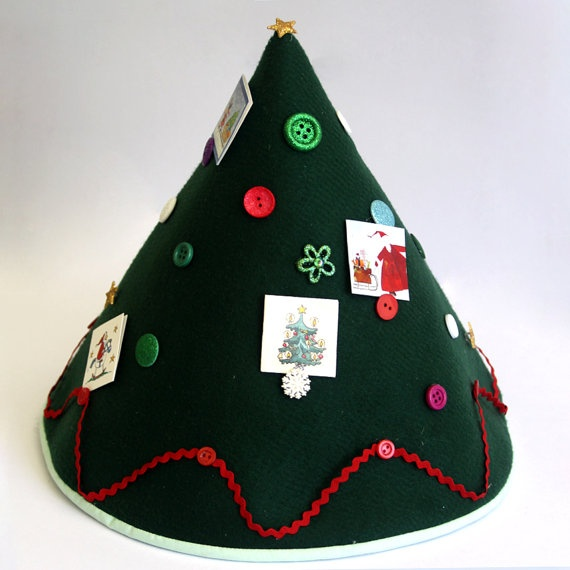 Conical Christmas tree advent calendar by paninohome