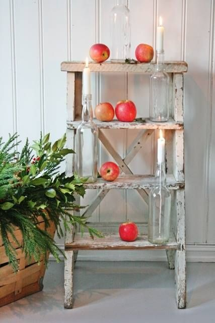 Ladder with apples