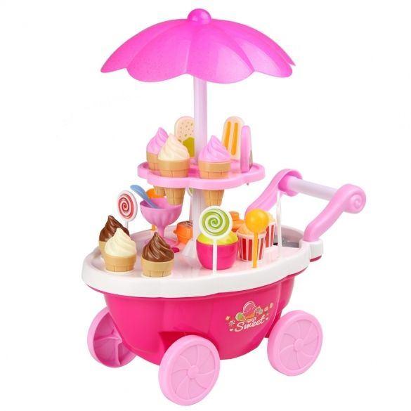Arshiner Baby kids Playing House Learning Toys Cake Ice Cream Food Truck Music Light Carts