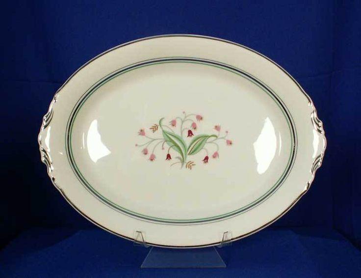 Syracuse USA Old-Ivory Coralbel Pattern 14 inch Platter bfe2320 #Syracuse