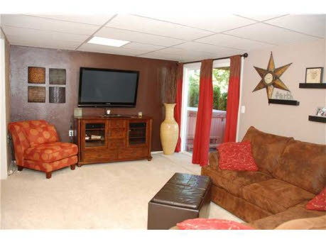 Family room in walk-out basement.