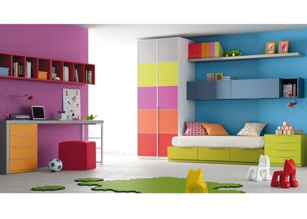 65 best images about dormitorios juveniles habitaciones juveniles on pinterest for kids for Habitaciones juveniles 3 camas