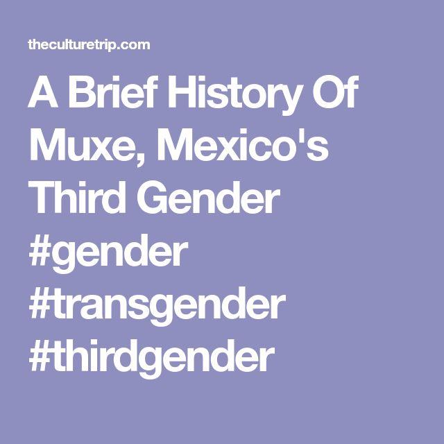 A Brief History Of Muxe, Mexico's Third Gender  #gender #transgender #thirdgender