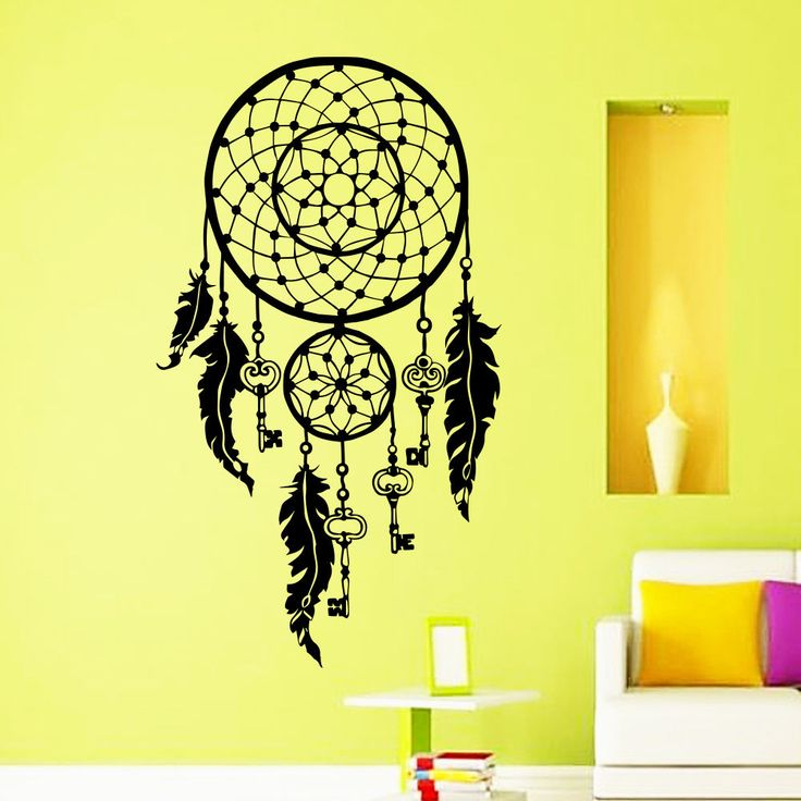Wall Decals Dreamcatcher Feathers Keys Fly Dorm Living Room Vinyl Sticker MR397 #STICKALZ #MuralArtDecals