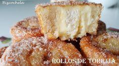 Como ya se acerca la Semana Santa, vamos con un dulce típico de estas fechas.... unos ROLLOS DE TORRIJA A LA NARANJA, una variante de la...