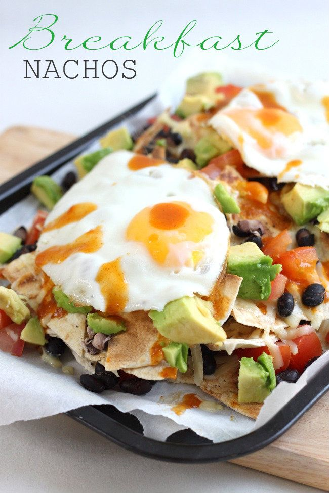 Breakfast nachos  Eating bar food in the morning obviously calls for a bloody mary (you're welcome).
