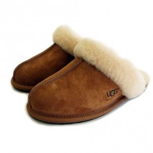20% Off Designer UGG Australia Scuffette II Chestnut Slippers. #UGGAustralia #UGG #Slippers #designer #sale #bargain #discount #womensslippers #shoes #fashion #warm