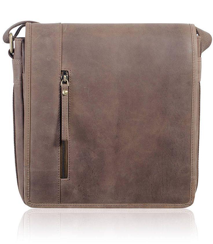 men's leather satchel / messenger bag by teals | notonthehighstreet.com