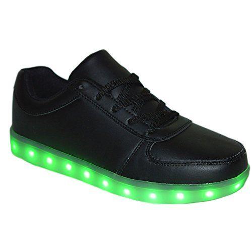 Unisex LED Sneaker Schuhe Blinkschuhe Leuchtschuhe Damen Herren Lowcut (42, Schwarz) - http://on-line-kaufen.de/verstrahlt/42-eu-unisex-led-sneaker-schuhe-blinkschuhe-damen-4