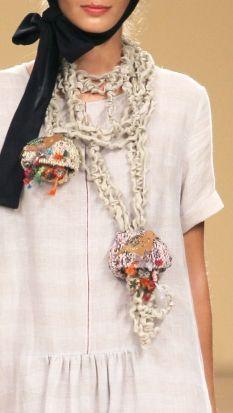 TM Colletion,Portugal # textile necklace