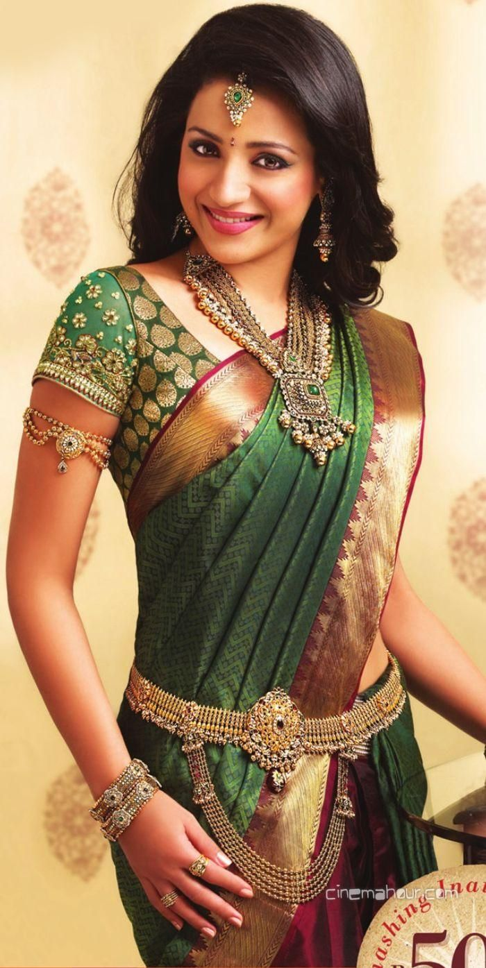 trisha krishnan in saree - Google Search.#trisha http://www.manchimovies.com