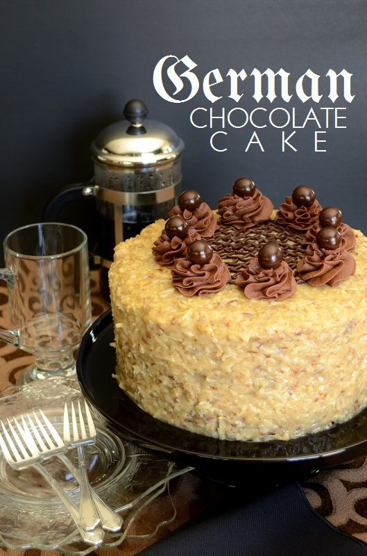 German Chocolate Cake #recipe by Cakewalker