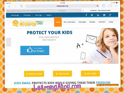Learning Ahoy!!: Kids Email: Review