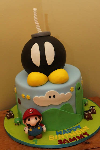 My famous Mario cake... made Cakewrecks Sunday Sweets twice! :)