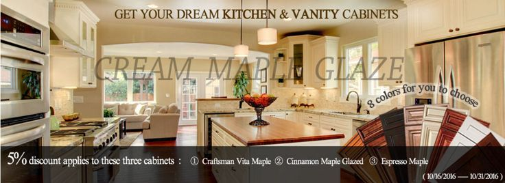 #kitchencabinet #vanitycabinet #cabinet #discount #homeimprovement #remolding 3 selected items of high quality cabinets, for your choice! Espresso Maple>>http://bit.ly/1O5mxaP Craftsman Vita Maple>>http://bit.ly/1hmV1q8 Cinnamono Maple Glazed>>http://bit.ly/1J9mHYJ Welcome to our website and choose your favorites, feel free to contact us if you have any further question.