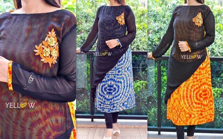 STAY SINGLE #2 Rayon printed Kurti with georgette Overlay with full sleeves