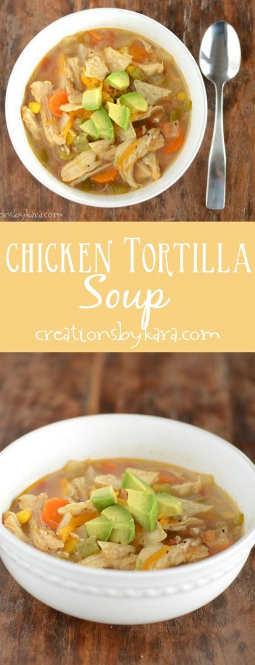 Make your favorite restaurant Chicken Tortilla Soup at home. An easy and delicious dinner recipe!