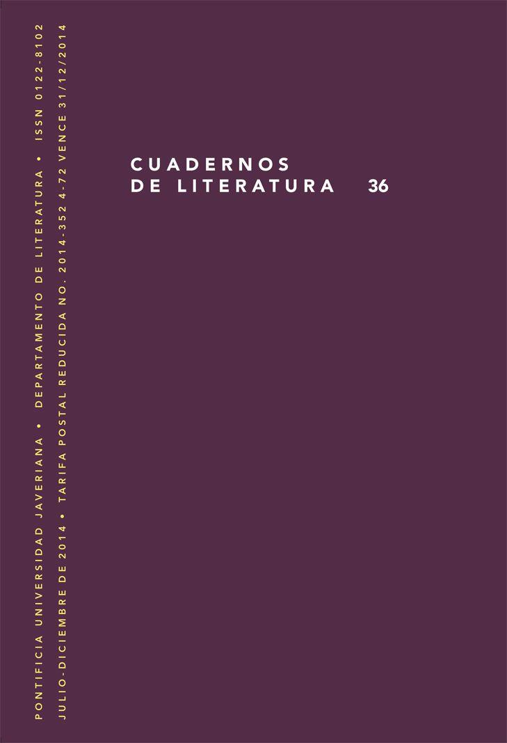 Cuadernos de Literatura 36 (Julio-Diciembre 2014)