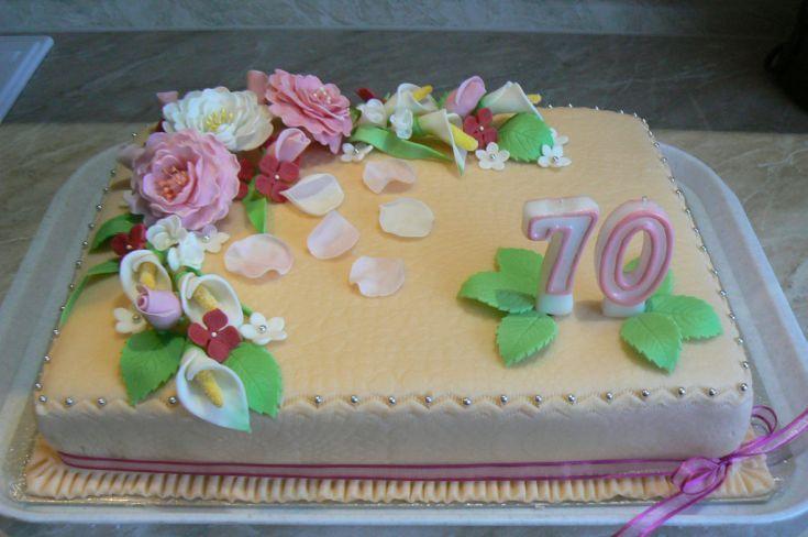 Fotorecept: Slávnostná narodeninová torta