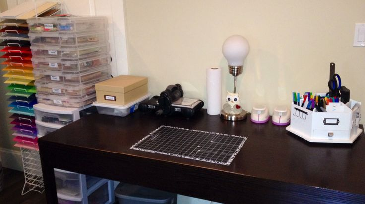 My craft area with my new paper rack. Really enjoying having a space to create :)