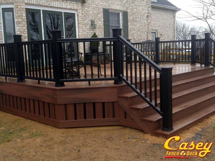 500 square foot fiberon composite ipe deck with fiberon for Deck around house