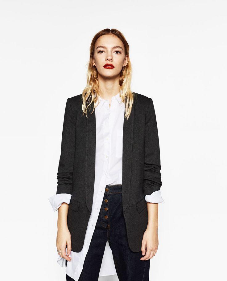zara damen jacke mit rmeln zum krempeln minimal chic pinterest women sleeve sleeve. Black Bedroom Furniture Sets. Home Design Ideas