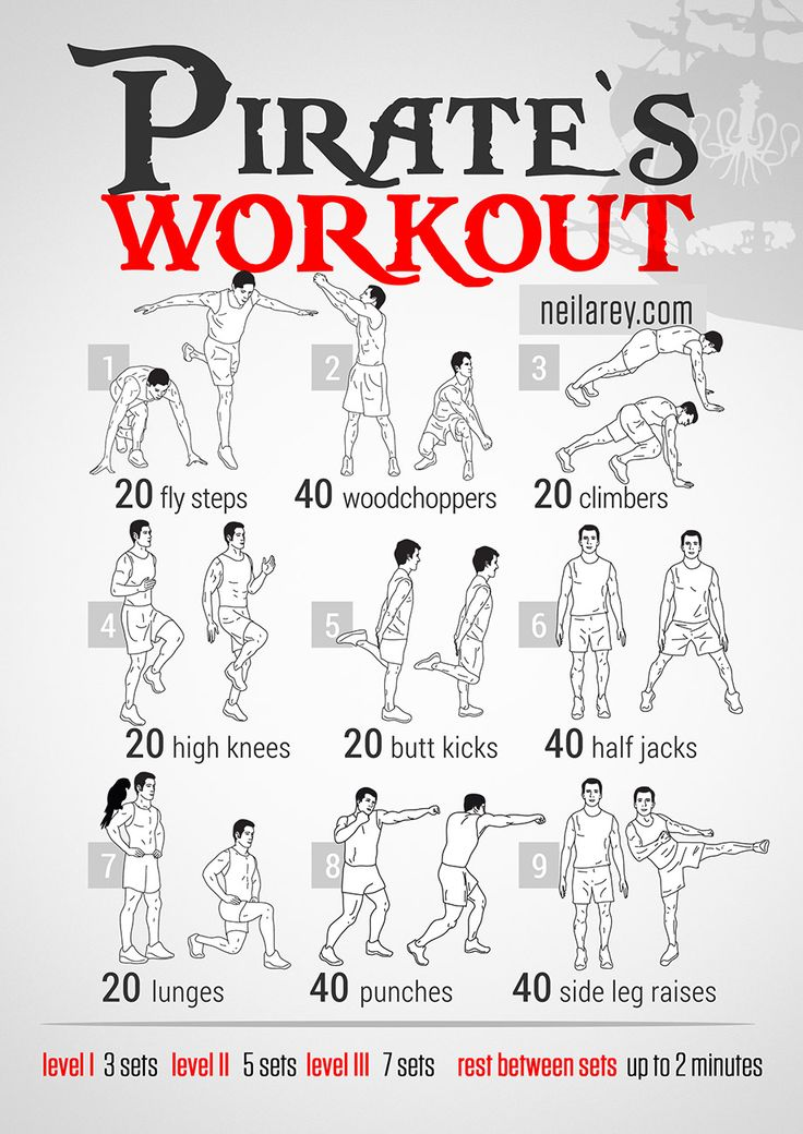 Pirate's Workout - needs more self defence stuff but right idea